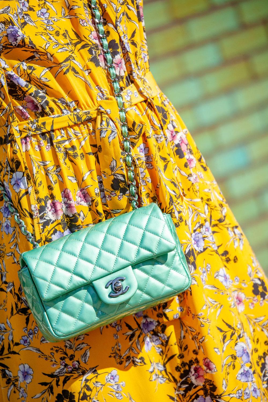 Chanel aqua bag
