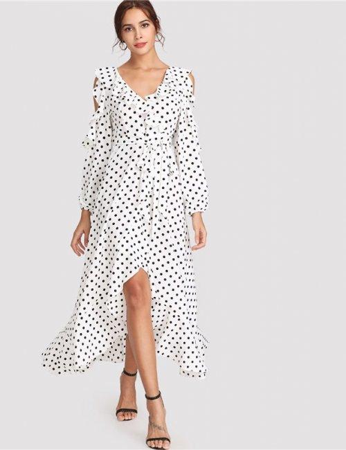 Zefinka Polka Dot Dress