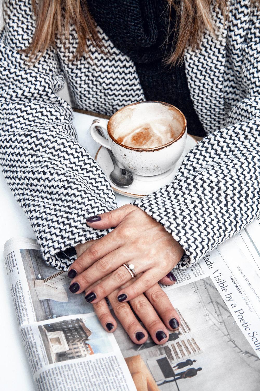 Fall tweed coat