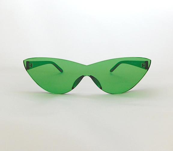 Green cateye sunnies