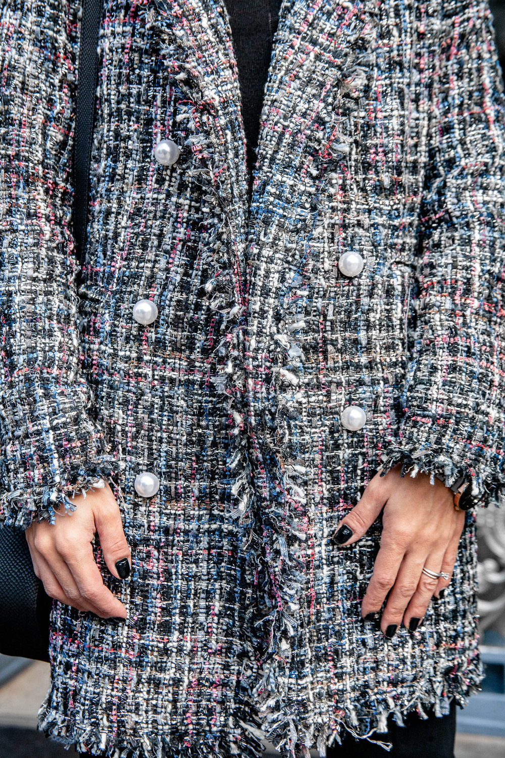Sparkly tweed coat
