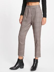 Plaid Capri Pants