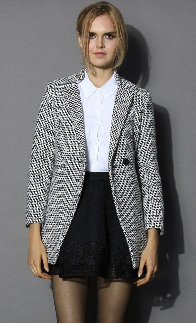 Chicwish tweed jacket