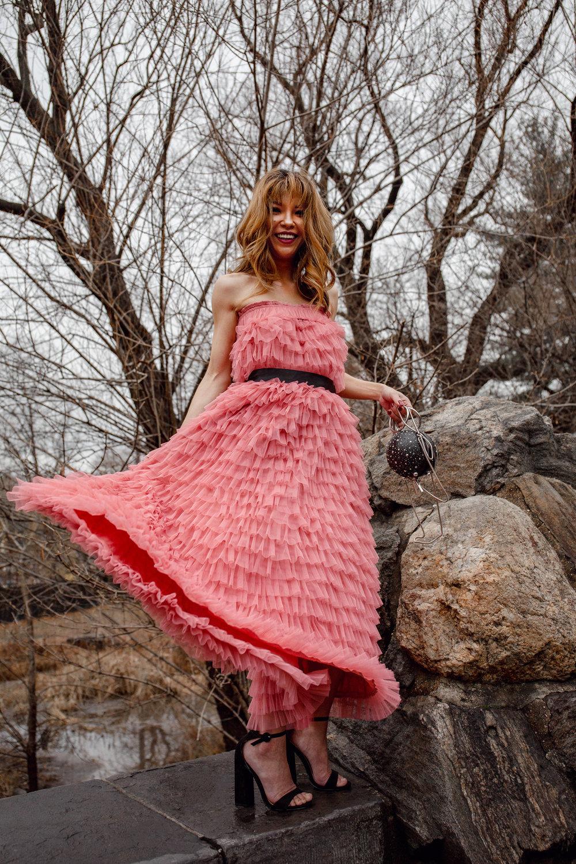 Chic pink dress
