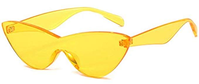Yellow Cateye Sunglasses