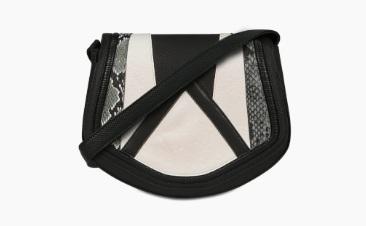 Black white purse