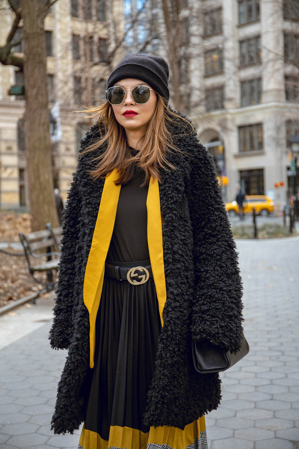 Yellow & black outfit