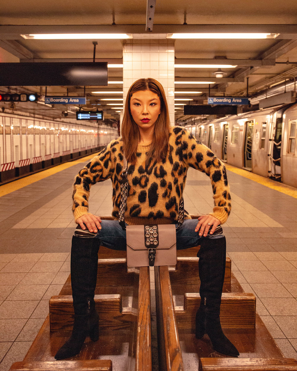 NYC subway fashion