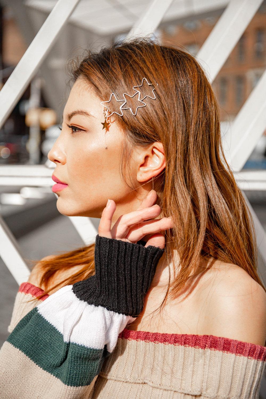 Stars hair clip