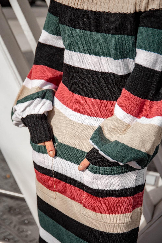 Striped sweater maxi dress