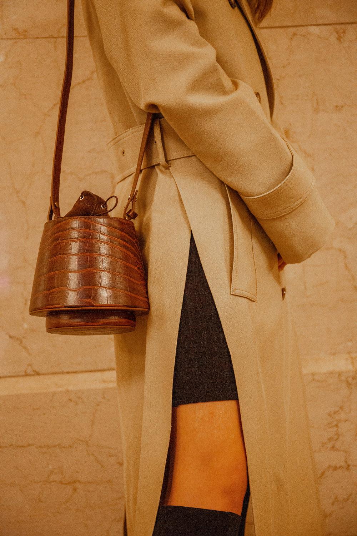 Brown lantern bag