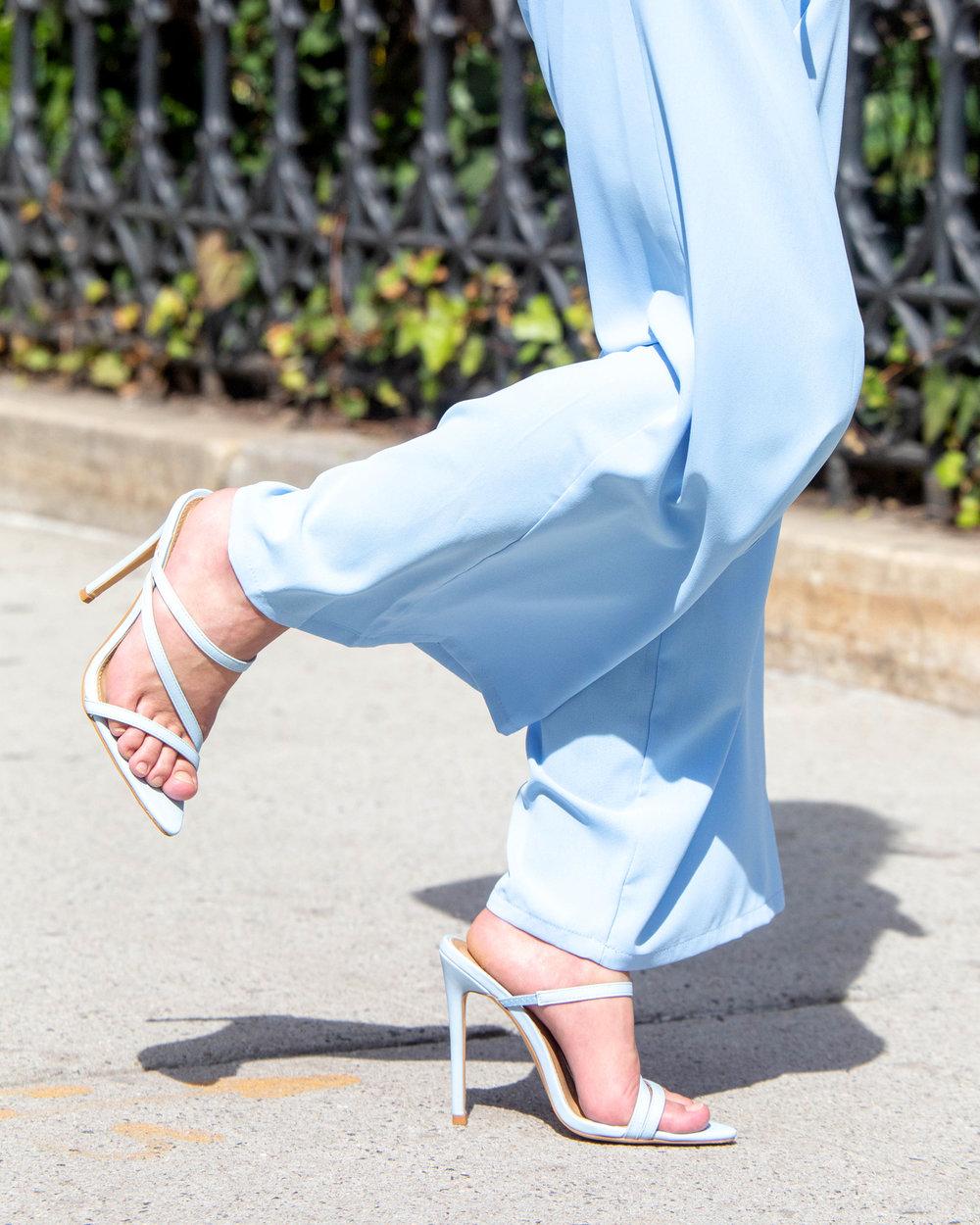 Blue summer sandal
