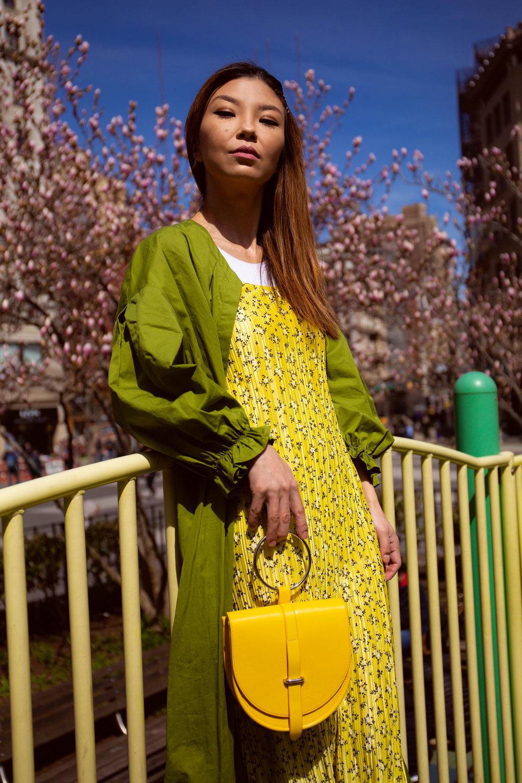 Yellow Cami Midi Dress
