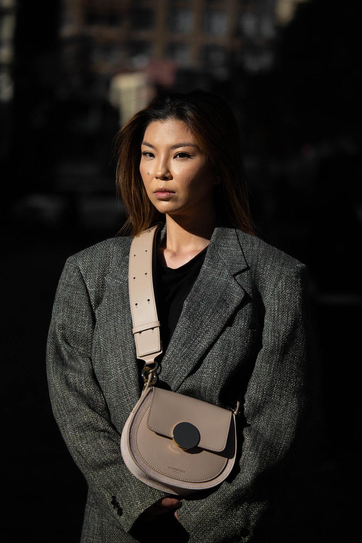 Oversized tweed blazer
