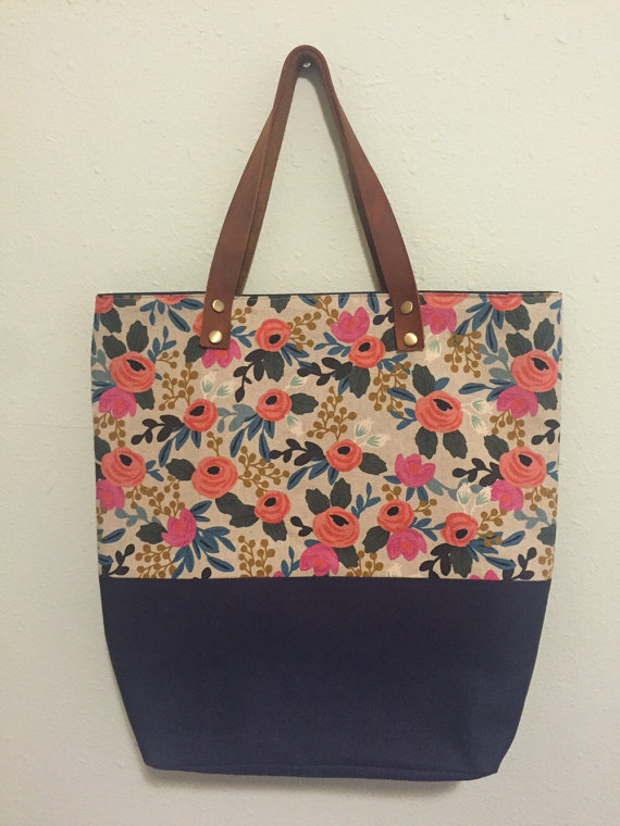 This canvas fabric is my favorite from the collection. I love this tote from The Poppie Shop