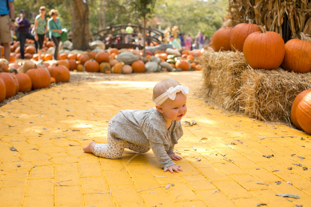 Avery following the yellow brick road :)
