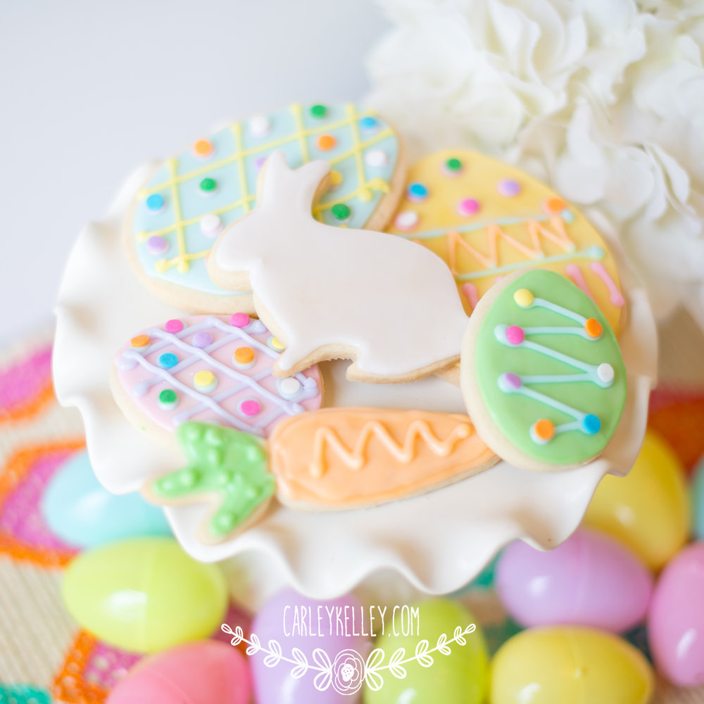 Easter Cookies @ www.carleykelley.com