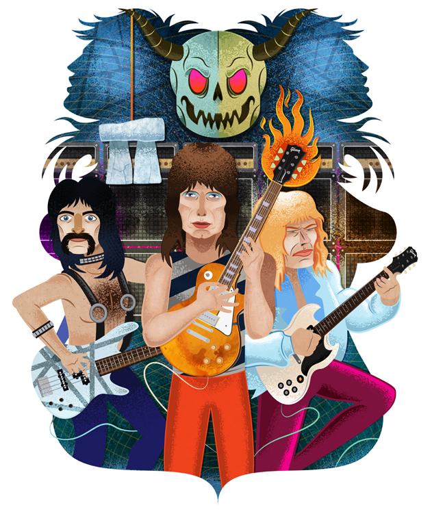 Stonehenge   This piece was created for The Bottleneck Gallery's It came from 1984 show. I chose the ultimate rock doc Spinal Tap as my subject. It was created entirely digitally.