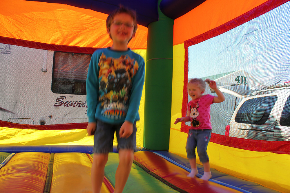 Nothing like a sunny afternoon defying gravity in the Bouncy Room to keep the young ones happy and entertained.