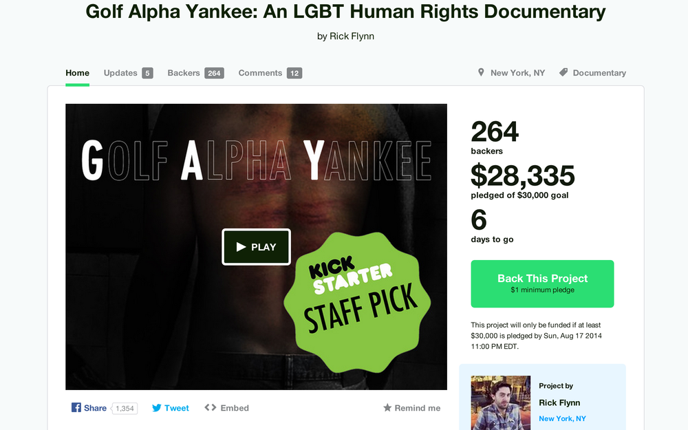 Our Kickstarter page as of August 11!