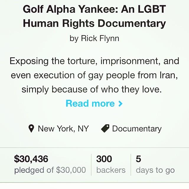😎 #golfalphayankee #kickstarter #crowdfunding #indiefilm #indiedoc #documentary #film #middleeast #iran #lgbt