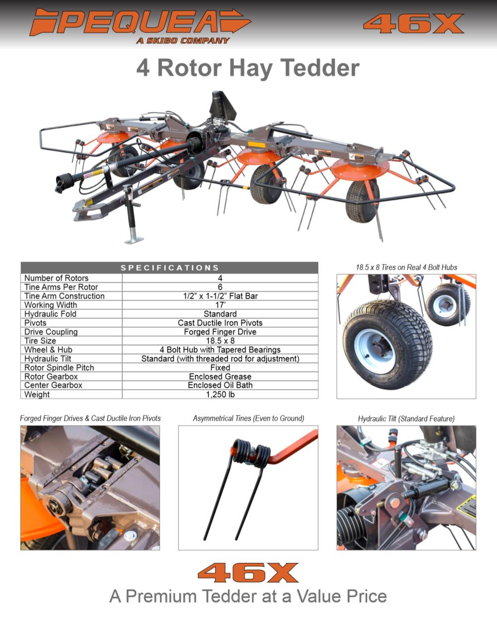 4 Rotor Hay Tedder Brochure