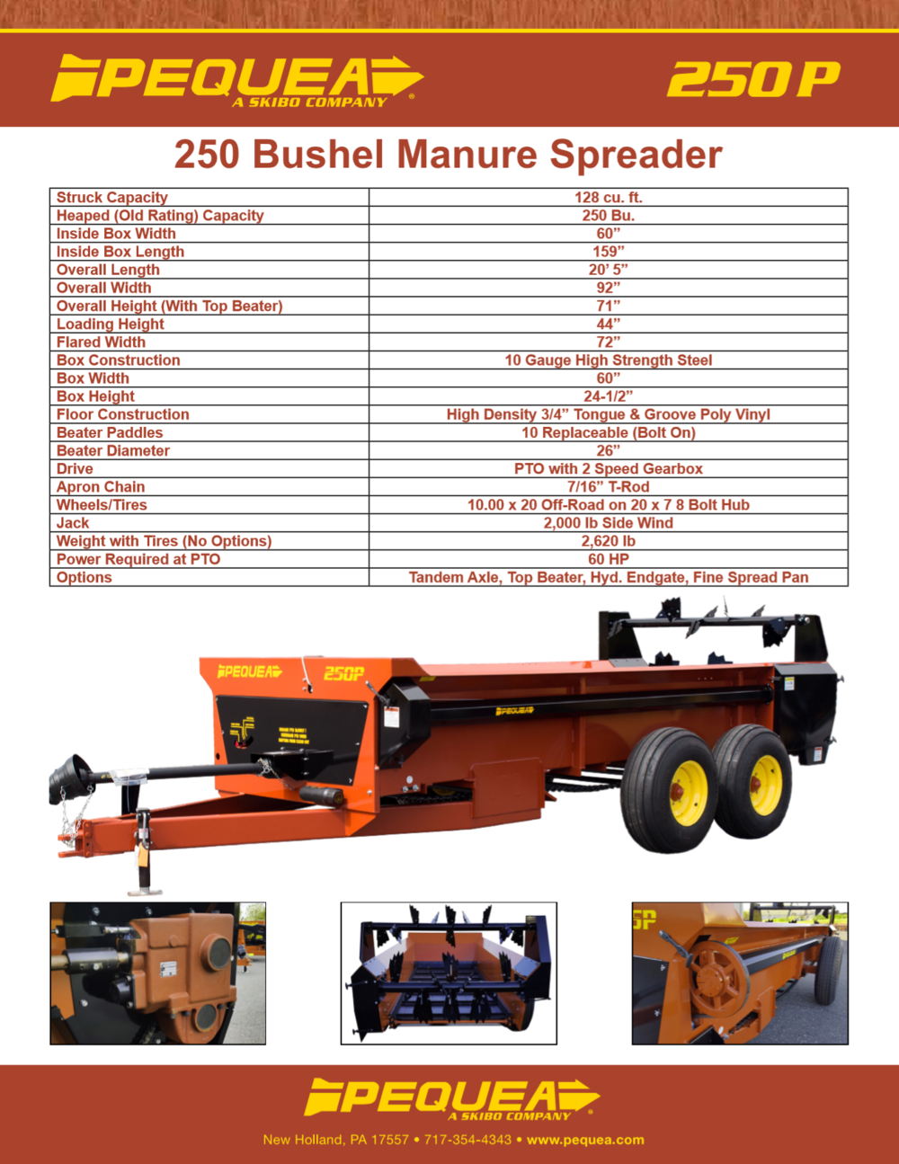250P Manure Spreader Brochure