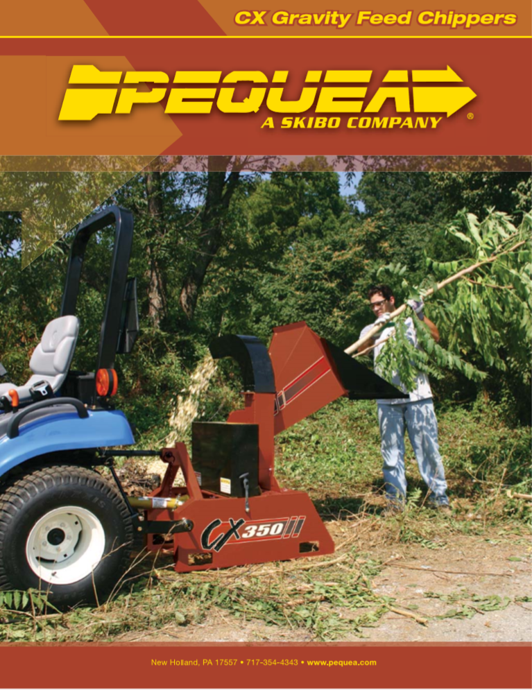 CX Gravity Feed Chippers Brochure