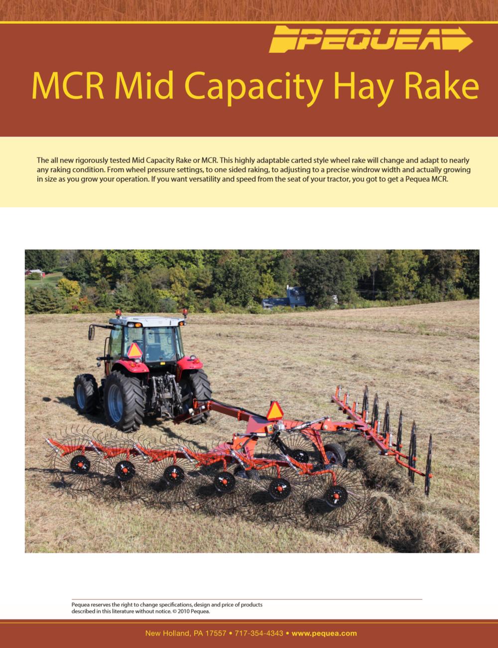 MCR Mid Cap Hay Rake Brochure