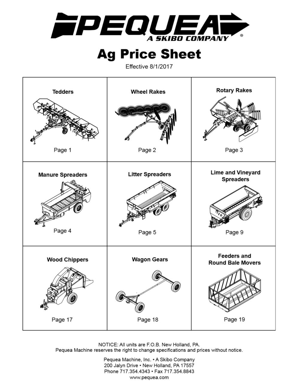 Ag Price List