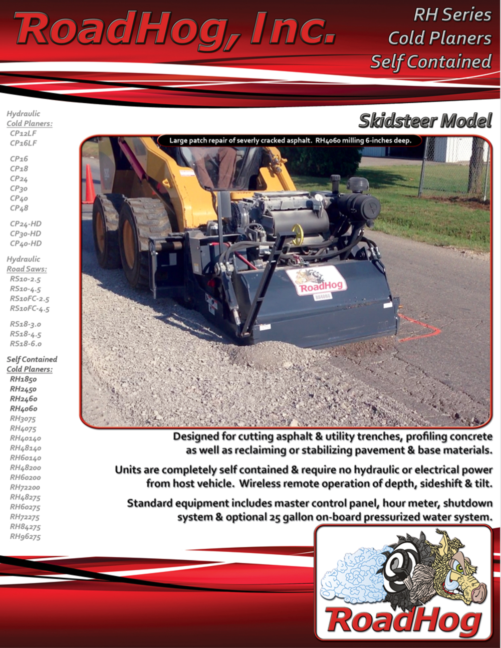 RH Self Contained Skid Steer Cold Planer Brochure