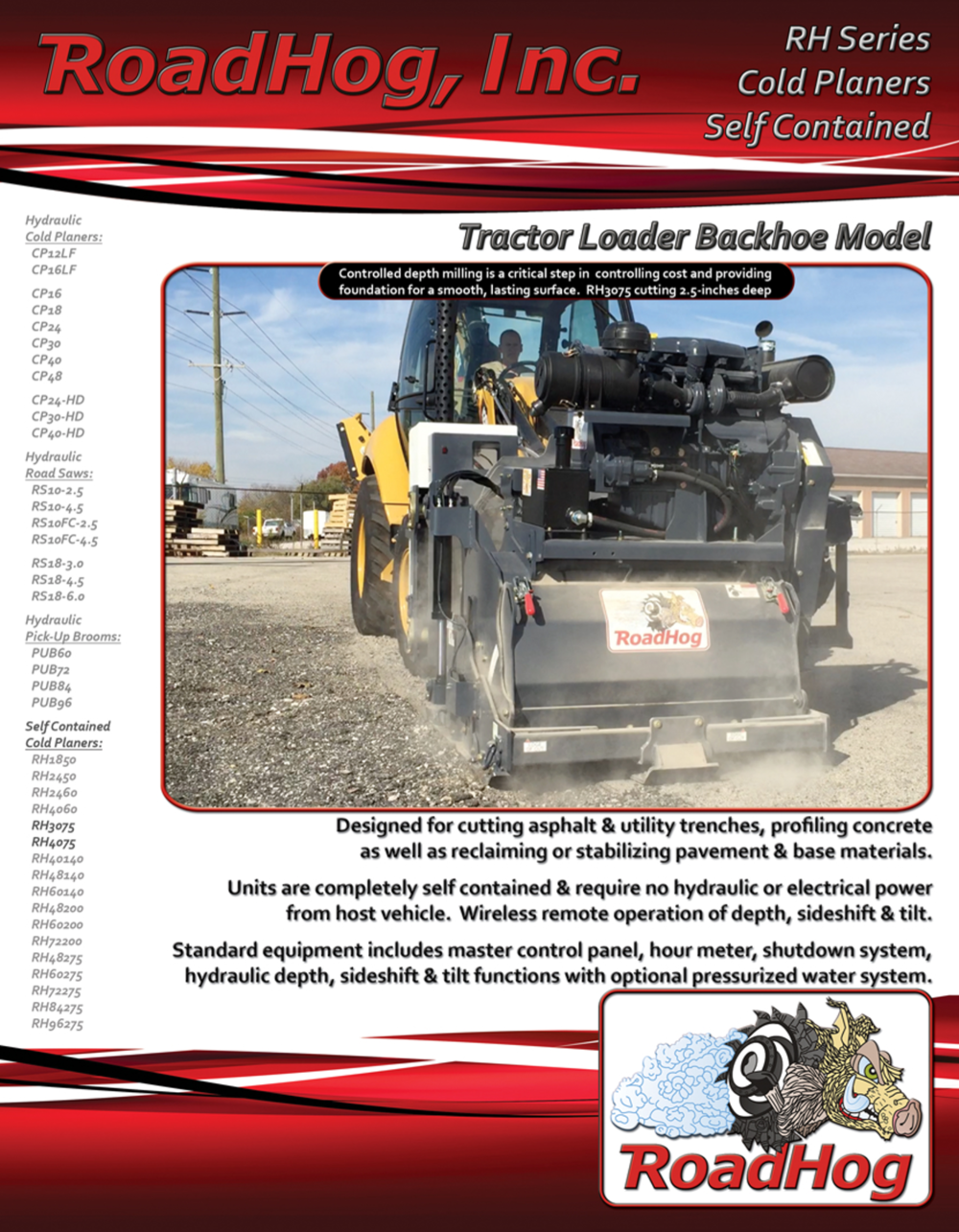 RH TLB Self Contained Cold Planer Brochure
