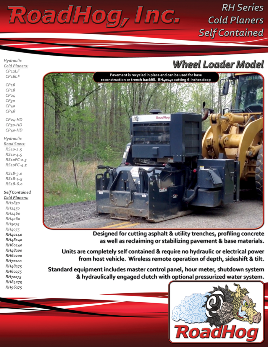 RH Wheel Loader Self Contained Cold Planar Brochure
