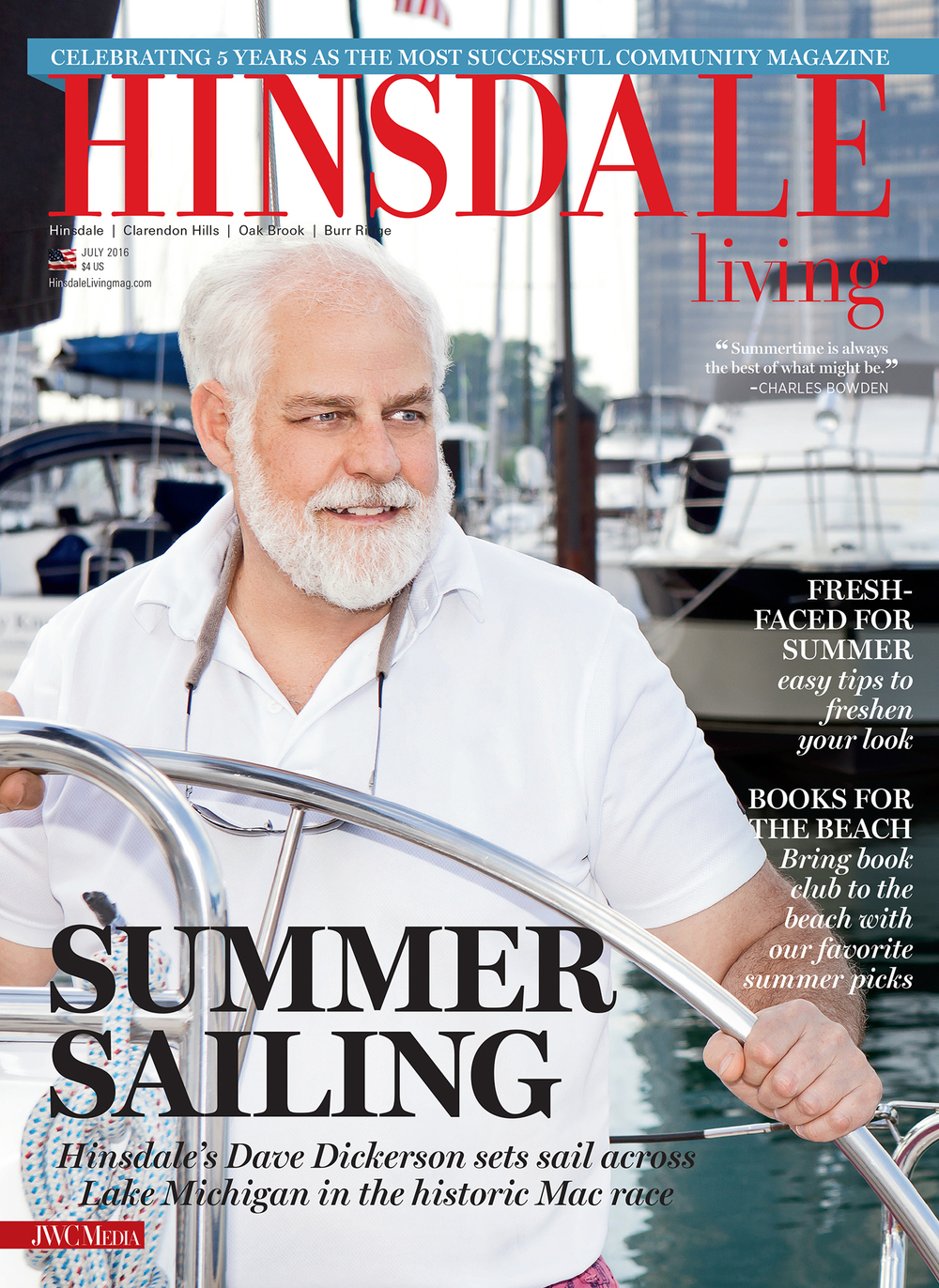 Cover Hinsdale Living Magazine July 2016 - Mary Carol Fitzgerald Photography