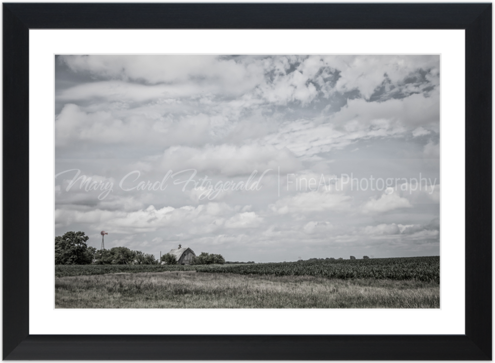 Iowa_Windmill-Barn_9741-40X60 (Black Frame).png