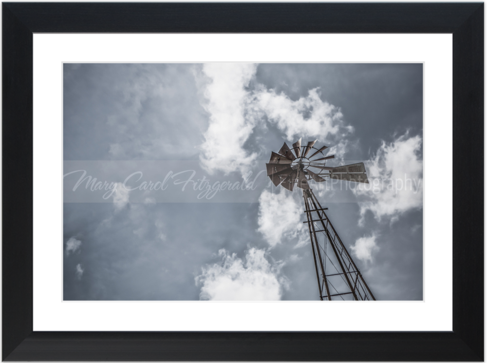 Iowa_Windmill-Sky_9610_35x46 (Black Frame).png