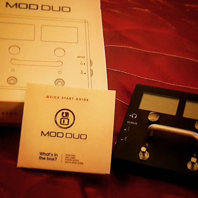 Very excited to begin using this in my music!  #moddevices #modduo #newpedal #musician #bassguitar