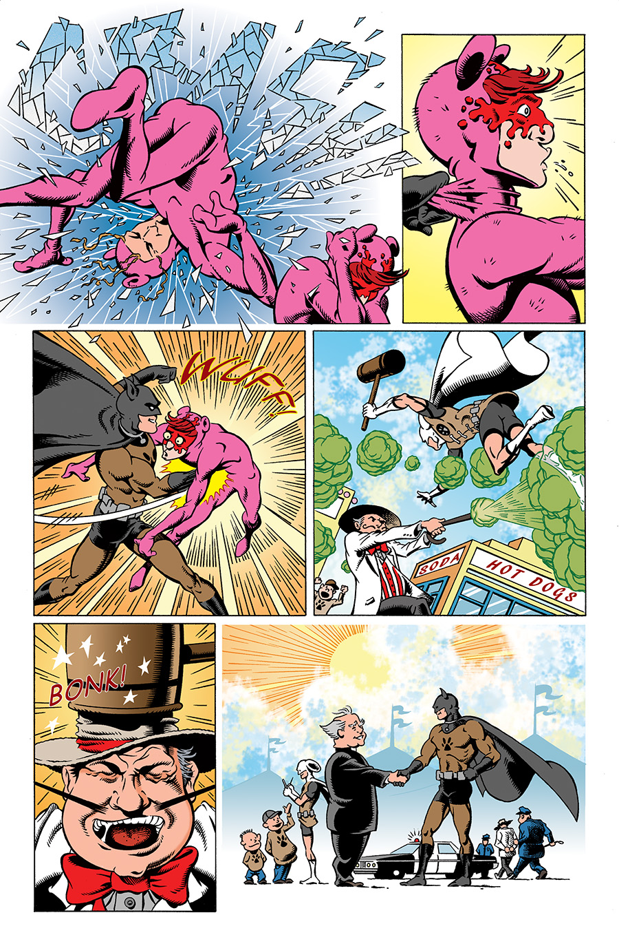 Pages from  Dober-Man  by Travis Holyfield and Edward Whatley