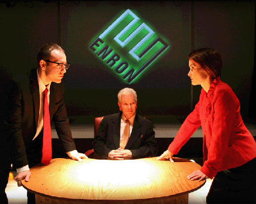 Video projections designed for  Enron  at Zeitgeist Stage Company.