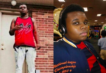 "Someone, this photo of Michael Brown flashing a peace sign became the ""Michael Brown was a thug"" image used by media shortly after his shooting. Why not the photo on the right, which was just as easily findable online? Check out  #IfTheyGunnedMeDown  on Twitter for more depressing side-by-side comparisons."