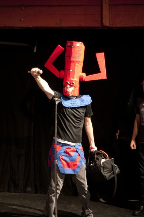 Zach Winston as Billy cosplaying Galactus.