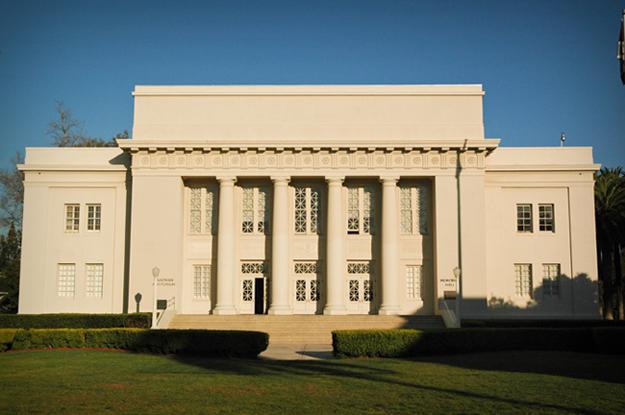 Memorial Hall Straightened