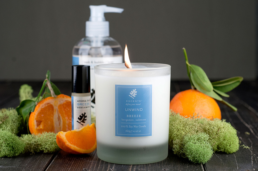 Lifestyle Photography for Escents Aromatherapy