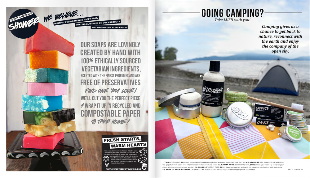 LUSH Times Catalog Editorial Layout