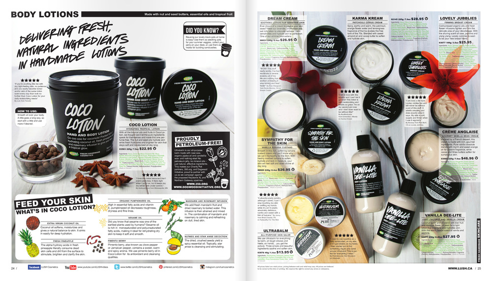 LUSH Times editorial layout