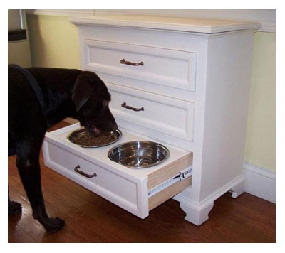 custom dog food cabinet