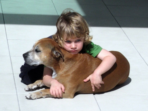 Shane with Belker the dog