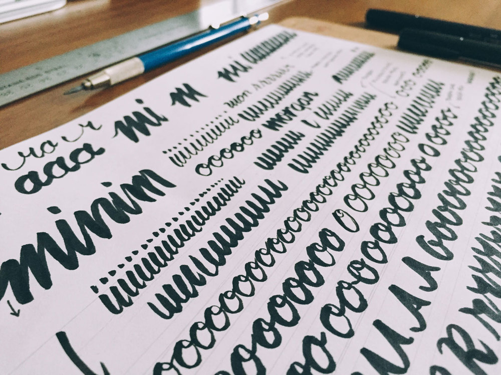 Bild brush pen lettering process u bild creative