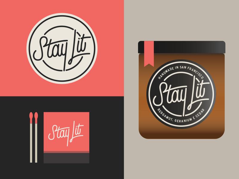 The final label design, candle & matchbook mock up