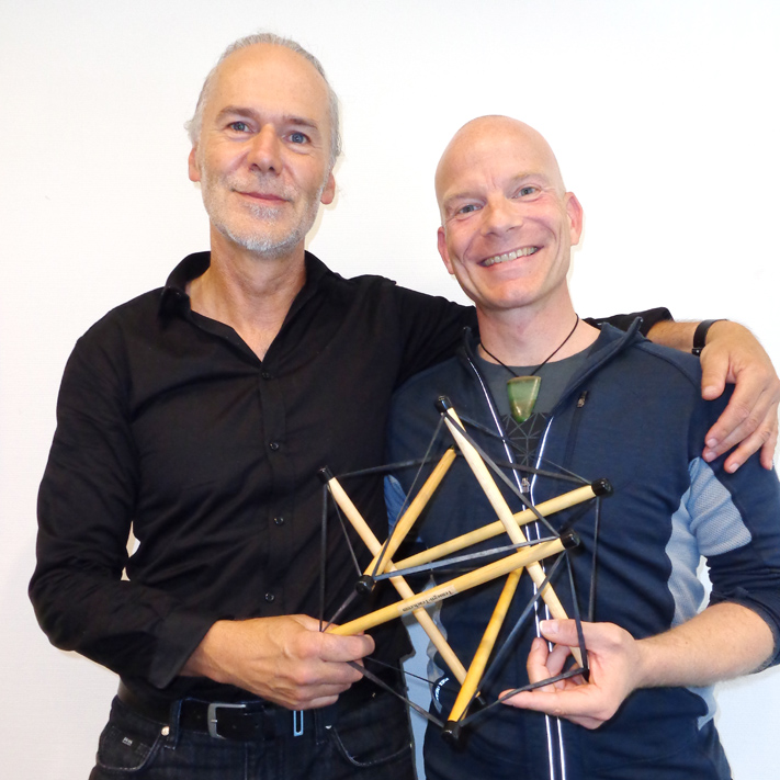 Markus with Dr. Robert Schleip at the Fascia Seminar in Germany